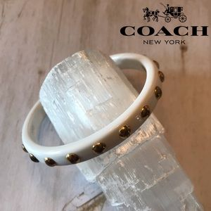 Coach Gold Stud Plastic Bangle